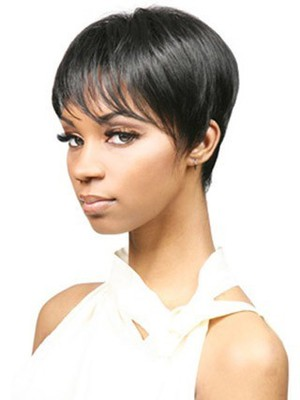 Bori Short Natural Synthetic Straight African American Wig - Image 2