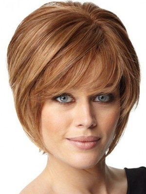 Layers Soft Human Hair Short Sweet Capless Wig - Image 1