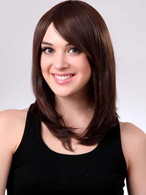 Capless Medium Stupendous Straight Length Synthetic Wig - Image 1