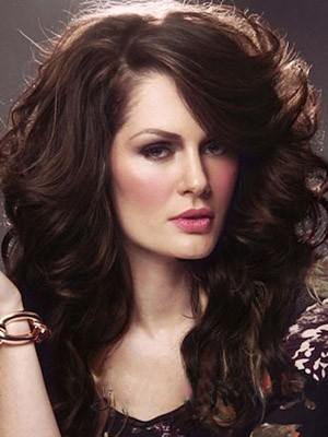 Elegant Wavy Synthetic Long Lace Front Wig - Image 1
