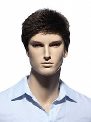 Comfortable Capless Ideal Short Mens Wig - Image 1