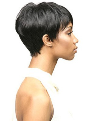 Bori Short Natural Synthetic Straight African American Wig - Image 3