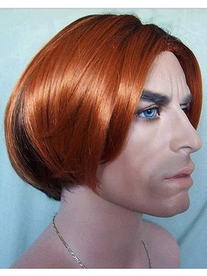 Sketchy Straight Lace Front Synthetic Short Mens Wig - Image 2