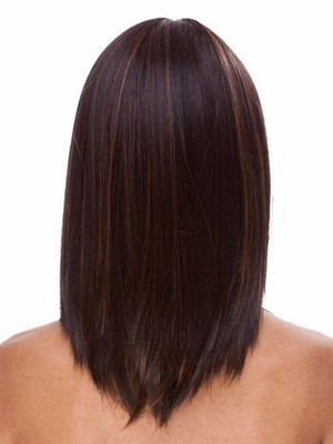 Attractive Length Medium Synthetic Straight Wig - Image 2