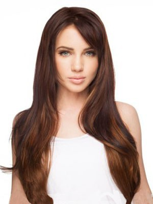 Chic Synthetic Lace Front Straight Wig - Image 1