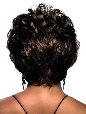 Wavy Short Synthetic Graceful African American Wig - Image 3