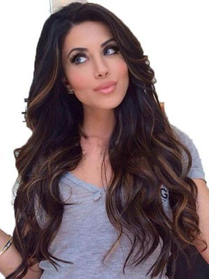 Elegant Wavy Human Hair Lace Front Wig - Image 1