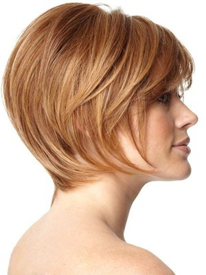 Layers Soft Human Hair Short Sweet Capless Wig - Image 2