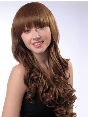 Synthetic Nice-looking Wavy Capless Wig - Image 2