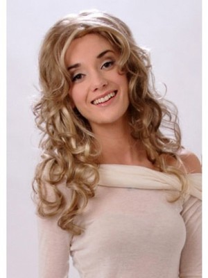 Classic Long Wavy Blonde Monofilament Wig - Image 1