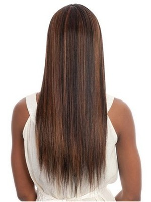 Long Silky Synthetic Straight African American Wig - Image 3