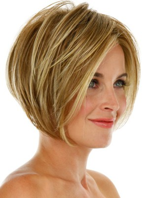 Modern Short Capless Synthetic Wig - Image 2