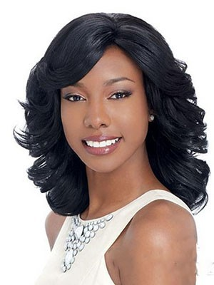 Medium Length Capless Wavy Synthetic Wig - Image 1