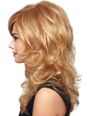 Wavy Looking Good Lace Front Layers Bombshell Style Wig - Image 3