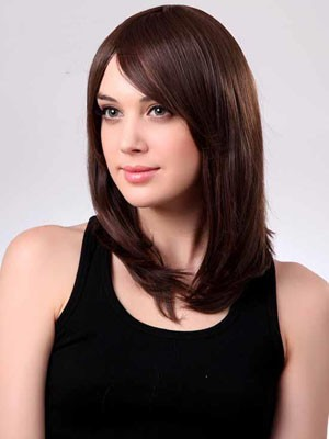 Capless Medium Stupendous Straight Length Synthetic Wig - Image 2