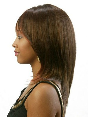 Straight Remy Hair Brown African American Wig - Image 2