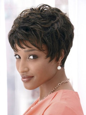 Dramatic Synthetic Cut Short African American Wig - Image 1
