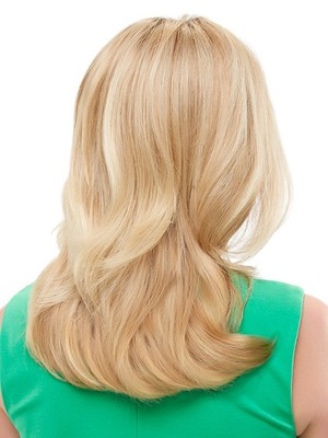 Lace Front Blonde Pretty Wavy Human Hair Wig - Image 3