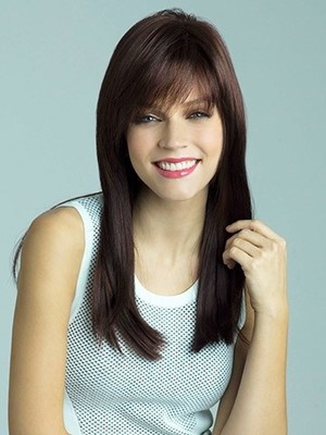 Straight Synthetic Fashionable Capless Wig - Image 1
