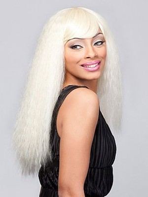 Straight Blonde Remy Human Hair Long African American Wig - Image 2