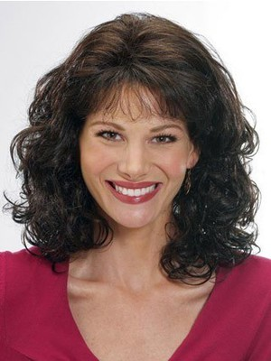 Capless Wavy Good Remy Human Hair Wig - Image 1
