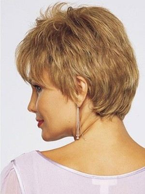 Lace Hand Tied Graceful Front With Mono Short Human Hair Wig  - Image 2