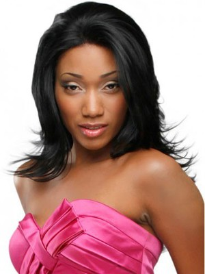 Synthetic Heat Friendly Straight African American Wig - Image 1