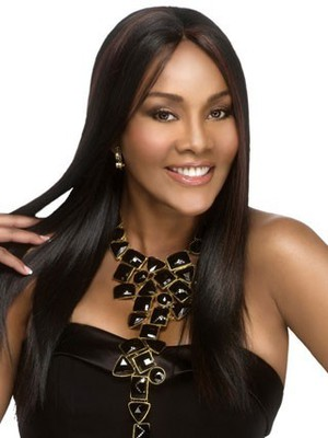 Straight Capless Long Stylish Synthetic African American Wig - Image 3