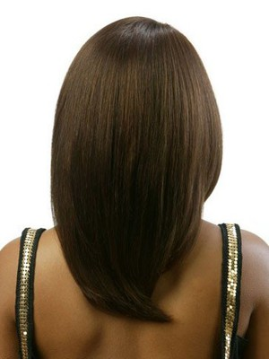 Straight Remy Hair Brown African American Wig - Image 3