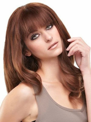 Cute Lace Front Wavy Long Remy Human Hiar Wig - Image 1
