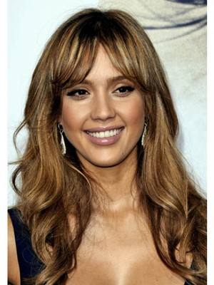 Fashionable Brown Wavy Capless Synthetic Wig - Image 1