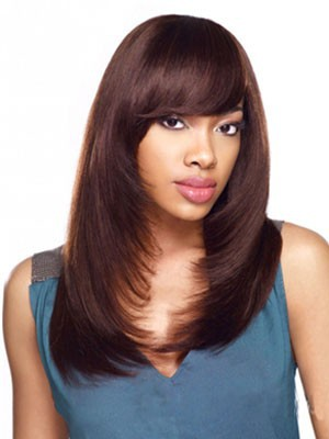 Capless Stupendous Synthetic Long Straight Wig - Image 1