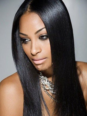 Chic Lace Front Straight Synthetic Wig - Image 1