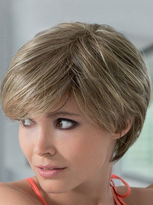 Polished Silk Short Straight Lace Front Human Hair Wig - Image 1
