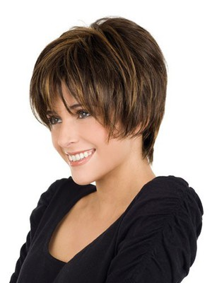 Fine Medium Length Straight Human Hair Wig - Image 3