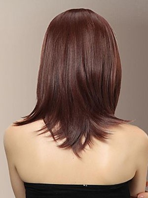 Chic Synthetic Capless Straight Wig - Image 2