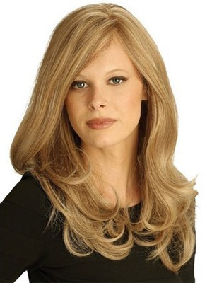 Cute Long Lace Wavy Remy Human Hair Wig - Image 1