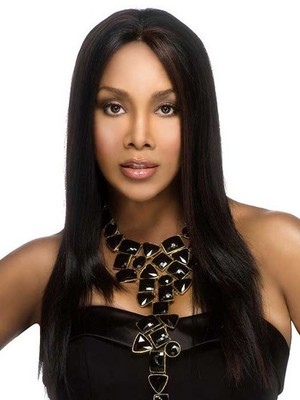 Straight Capless Long Stylish Synthetic African American Wig - Image 1