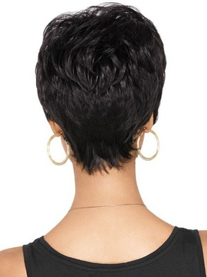 Synthetic Dramatic Tomboy Chic African American Wig - Image 3