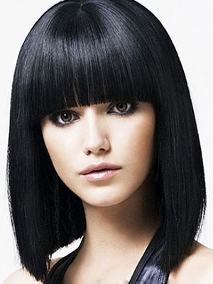 Chic Synthetic Capless Straight Wig - Image 1