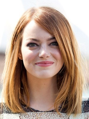 Lace Front Emma Stone's Hairstyle Graceful Wig - Image 1