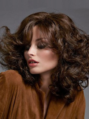 Capless Romantic Wavy Synthetic Wig - Image 1