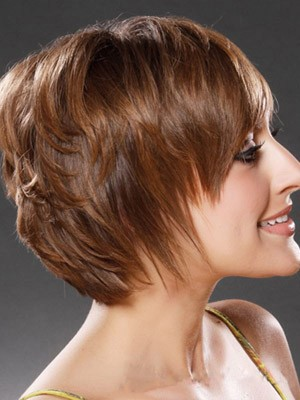 Synthetic Straight Short Capless Wig - Image 2