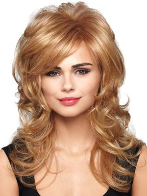 Wavy Looking Good Lace Front Layers Bombshell Style Wig - Image 2