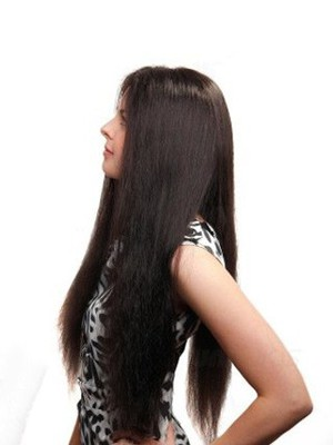 Impressive Straight Full Lace Long Human Hair Wig - Image 3