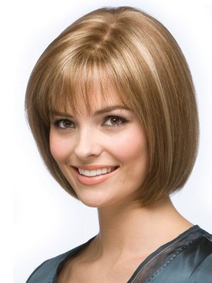 Bob Style Graceful Lace Front Human Hair Wig - Image 1