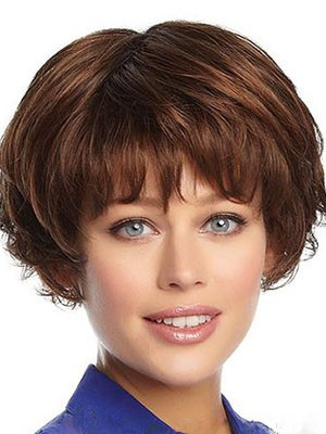 Nice-looking Wavy Human Hair Capless Wig - Image 1