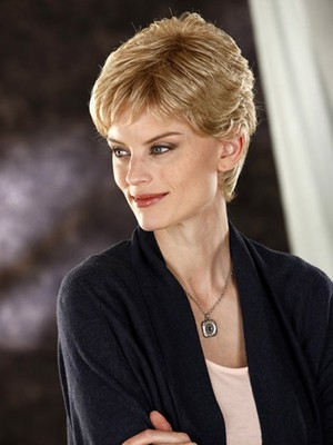 Short Slightly Waves Fashionable Synthetic Wig - Image 3