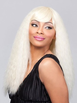 Straight Blonde Remy Human Hair Long African American Wig - Image 3