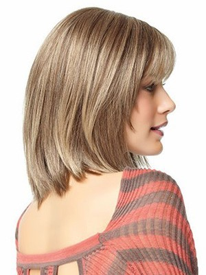 Shoulder Angled-cut Most Popular Length Human Hair Wig - Image 3